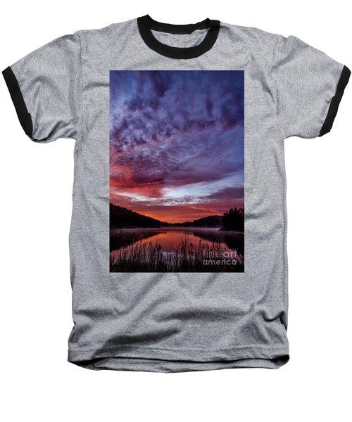First Light On The Lake Baseball T-Shirt