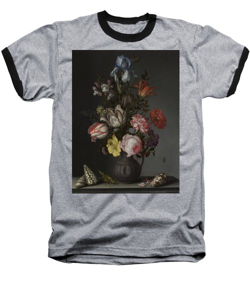 Flowers In A Vase With Shells And Insects Baseball T-Shirt