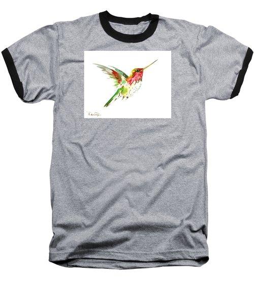 Flying Hummingbird Baseball T-Shirt by Suren Nersisyan
