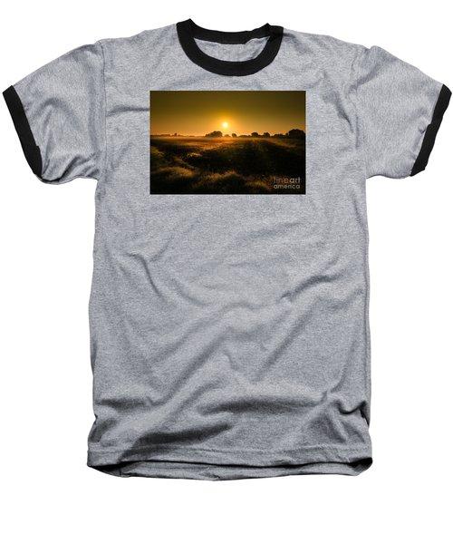 Baseball T-Shirt featuring the photograph Foggy Morning by Franziskus Pfleghart
