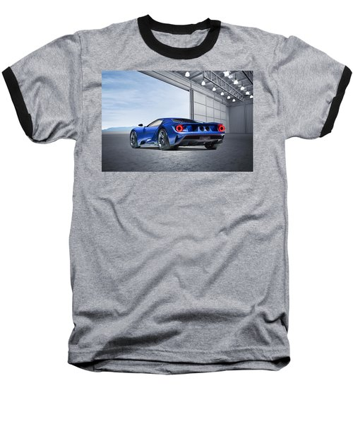 Baseball T-Shirt featuring the digital art Ford Gt by Peter Chilelli