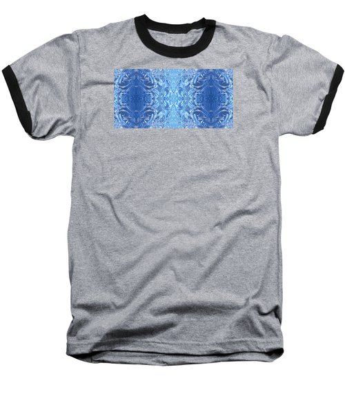 Frost Feathers Baseball T-Shirt by Marianne Dow