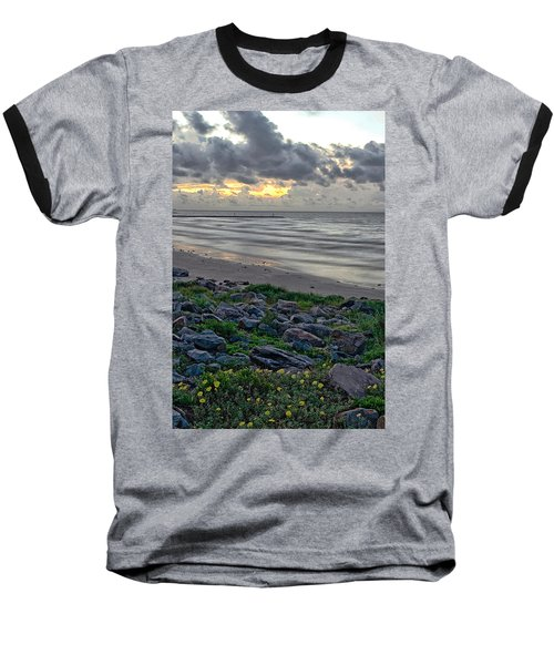 Galveston Sunrise Baseball T-Shirt