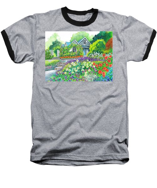 Baseball T-Shirt featuring the painting Gardeners Delight by Val Stokes