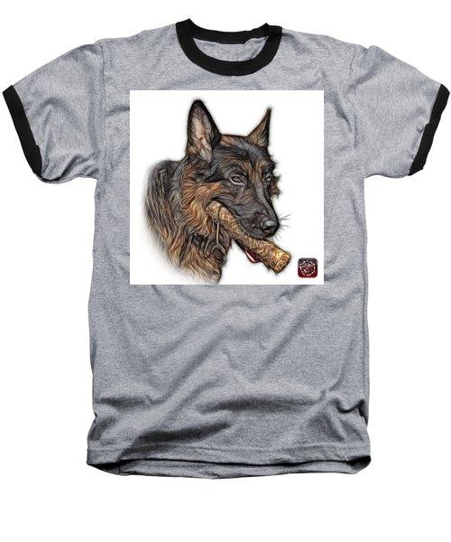 German Shepherd And Toy - 0745 F Baseball T-Shirt