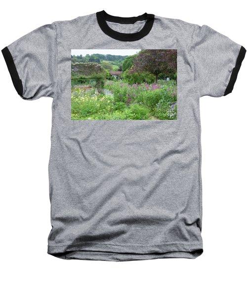 Giverny Monet's Garden Baseball T-Shirt