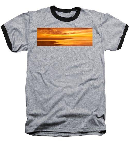 Golden Panoramic Sunset Baseball T-Shirt