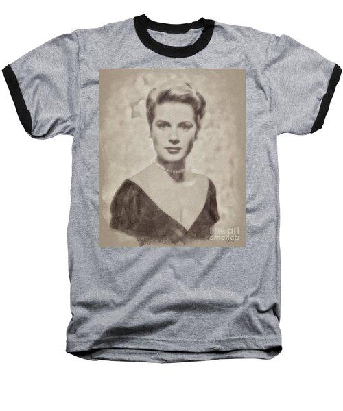 Grace Kelly, Actress And Princess Baseball T-Shirt by John Springfield