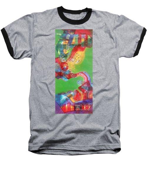 Green Harmony Baseball T-Shirt by Sanjay Punekar