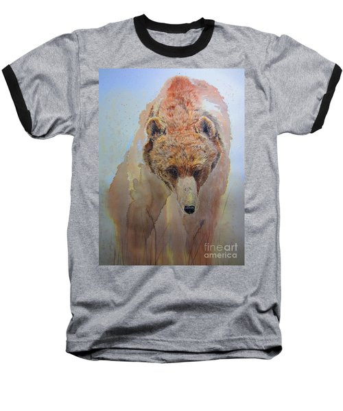 Baseball T-Shirt featuring the painting Grizzly by Laurianna Taylor