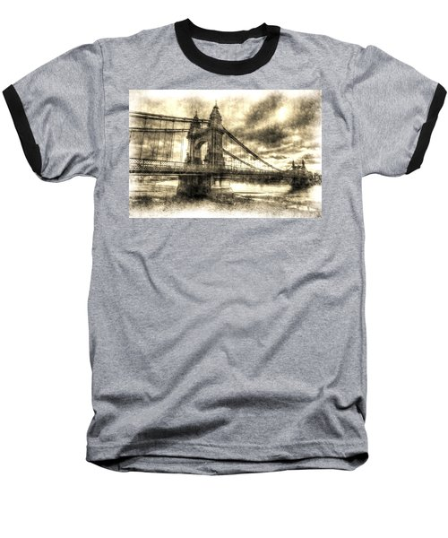 Hammersmith Bridge London Vintage Baseball T-Shirt