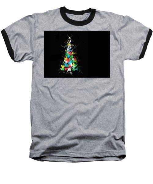 Happy Holidays Baseball T-Shirt by Ludwig Keck
