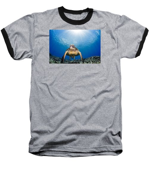 Hawaiian Turtle Baseball T-Shirt