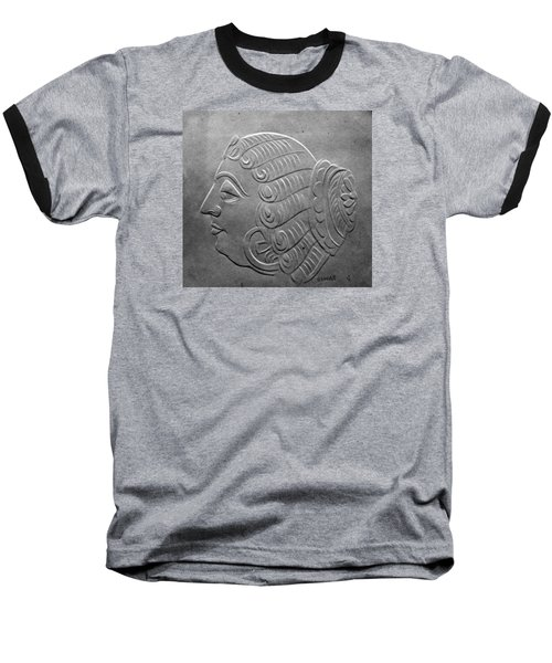 Baseball T-Shirt featuring the relief Head by Suhas Tavkar