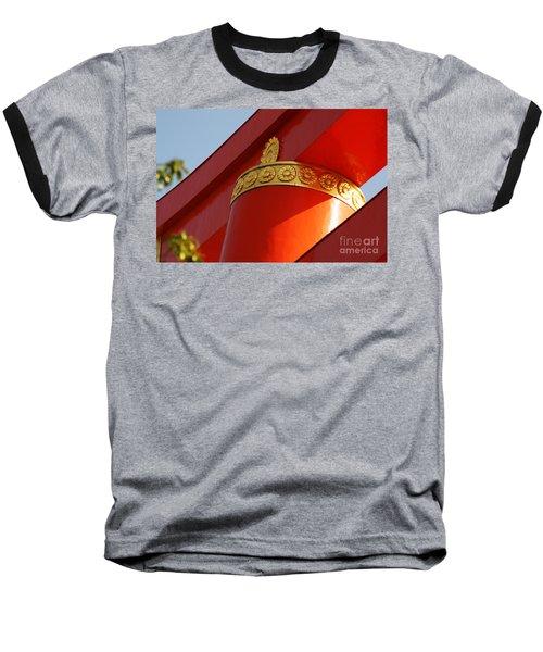 Baseball T-Shirt featuring the photograph Heian Torii by Cassandra Buckley