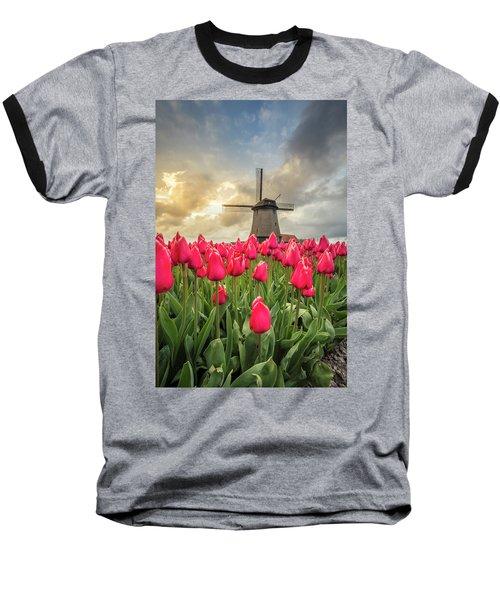 Holland Windmill Baseball T-Shirt