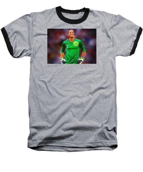 Hope Solo Baseball T-Shirt by Semih Yurdabak
