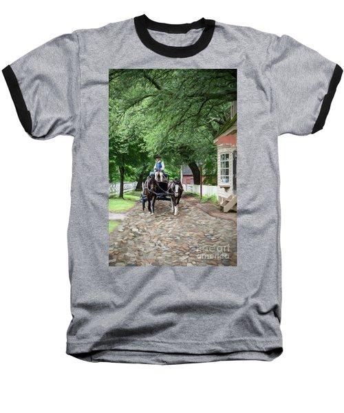 Horse Drawn Wagon Baseball T-Shirt