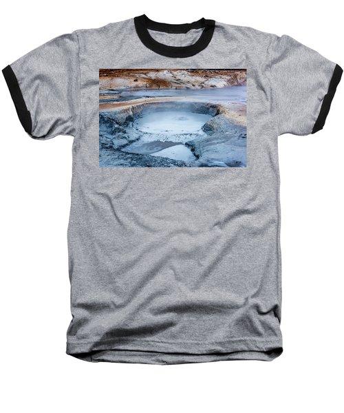 Hverir Steam Vents In Iceland Baseball T-Shirt by Joe Belanger