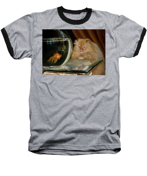 Baseball T-Shirt featuring the digital art I Love Sushi by Thanh Thuy Nguyen