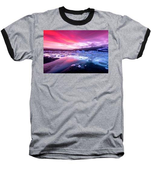 Icebergs In Jokulsarlon Glacial Lagoon Baseball T-Shirt