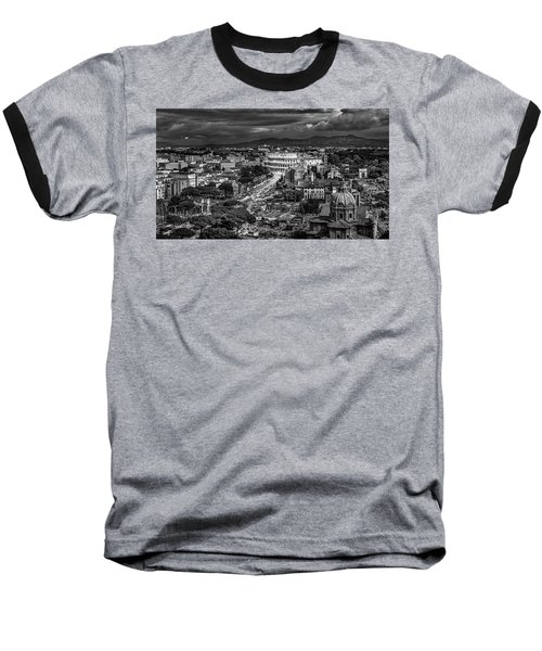 Il Colosseo Baseball T-Shirt by Sonny Marcyan