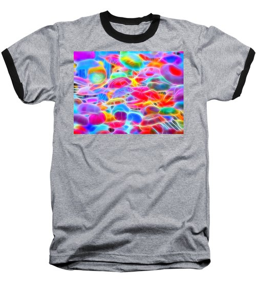In Color Abstract 9 Baseball T-Shirt by Cathy Anderson