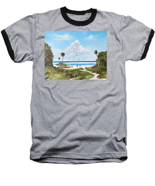 In Paradise Baseball T-Shirt by Lloyd Dobson