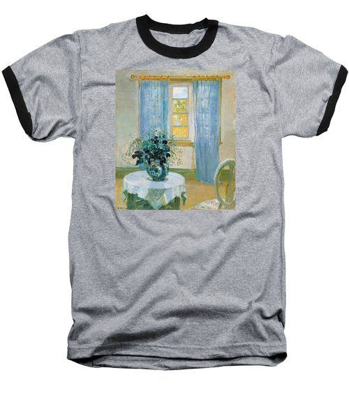 Interior With Clematis Baseball T-Shirt by Anna Ancher