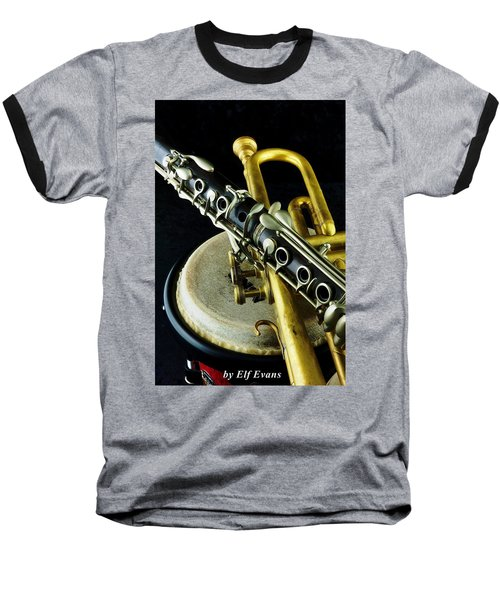 Baseball T-Shirt featuring the photograph Jazz by Elf Evans