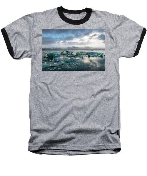Baseball T-Shirt featuring the photograph Jokulsarlon, The Glacier Lagoon, Iceland 3 by Dubi Roman