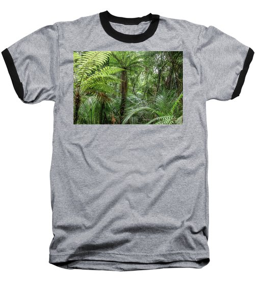 Baseball T-Shirt featuring the photograph Jungle Ferns by Les Cunliffe