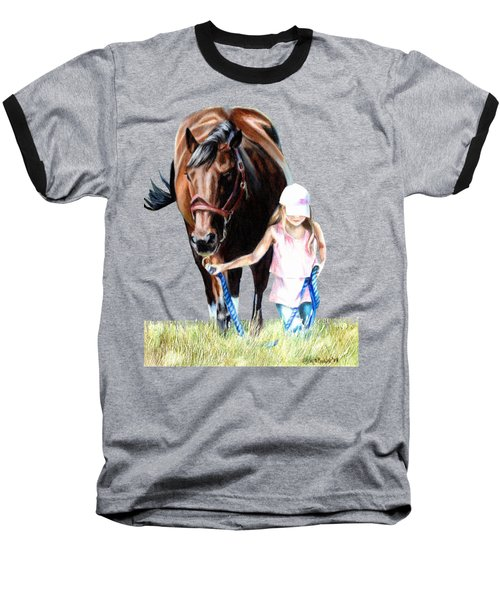 Just A Girl And Her Horse  Baseball T-Shirt by Shana Rowe Jackson