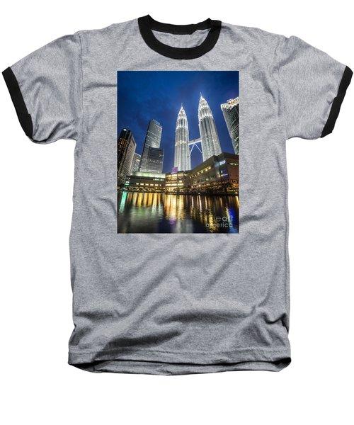 Kuala Lumpur Petronas Towers Baseball T-Shirt