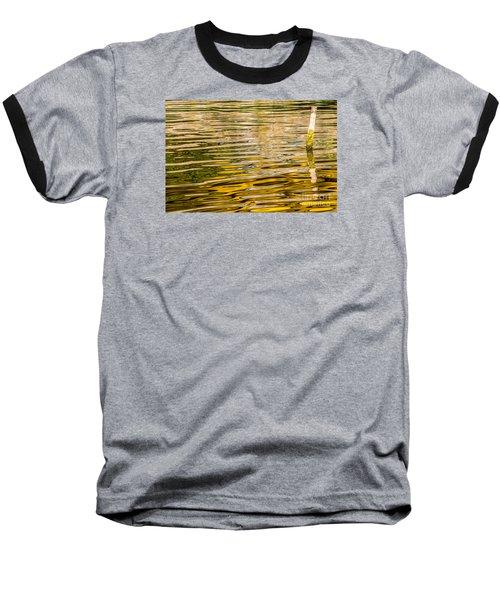 Lake Reflection Baseball T-Shirt by Odon Czintos