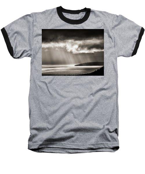 Lake Tahoe Storm Baseball T-Shirt