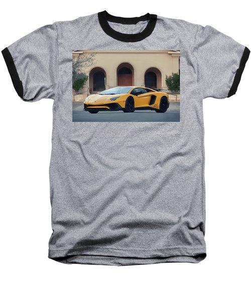 #lamborghini #aventadorsv #superveloce #print Baseball T-Shirt