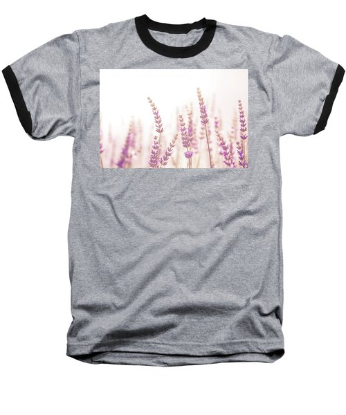 Lavender Flower In The Garden,park,backyard,meadow Blossom In Th Baseball T-Shirt