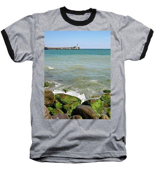 Lighthouse In Sea Baseball T-Shirt
