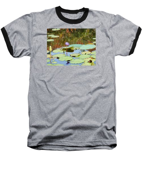 Lily Pond Baseball T-Shirt by Kay Gilley