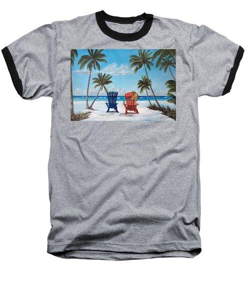 Living The Dream Baseball T-Shirt by Lloyd Dobson