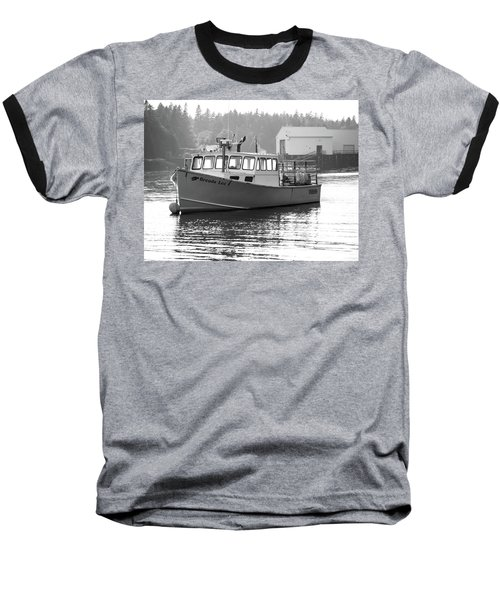 Baseball T-Shirt featuring the photograph Lobster Boat by Trace Kittrell
