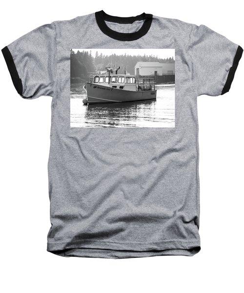 Lobster Boat Baseball T-Shirt by Trace Kittrell
