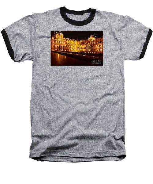 Baseball T-Shirt featuring the photograph Louvre Pyramid by Danica Radman
