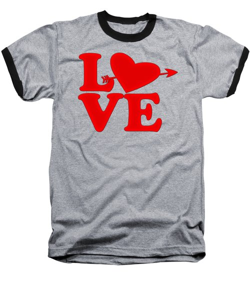 Baseball T-Shirt featuring the drawing Love by Bill Cannon