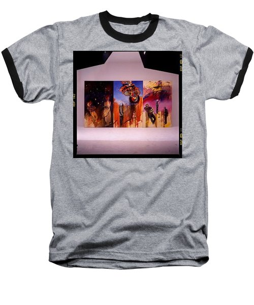Baseball T-Shirt featuring the painting Love Hurts by Charles Stuart