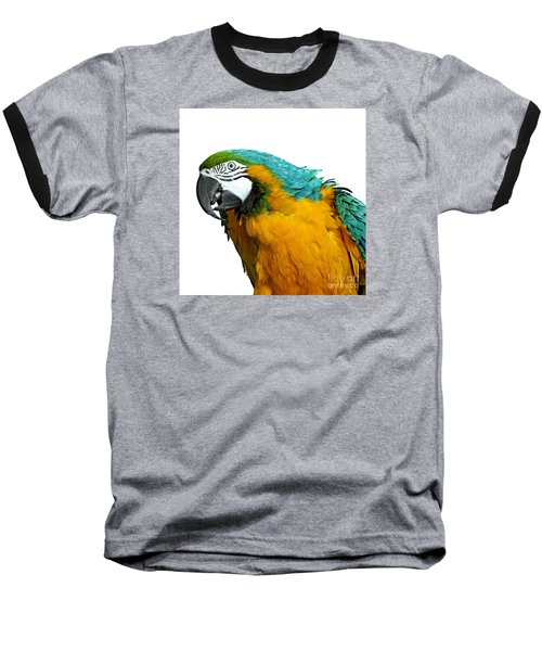 Macaw Bird Baseball T-Shirt