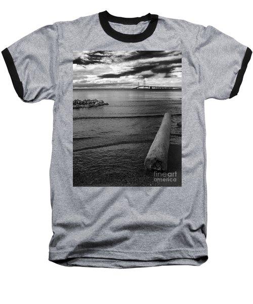 Mackinac Bridge - Infrared 01 Baseball T-Shirt
