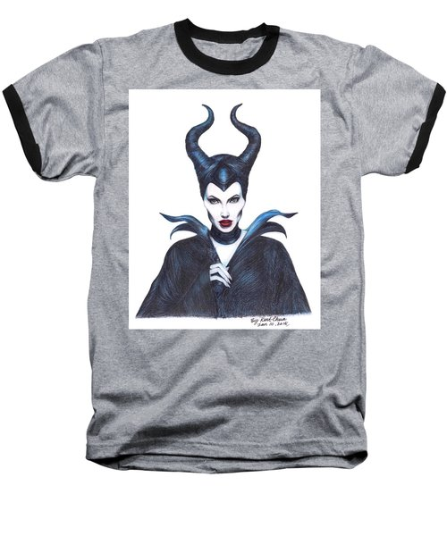 Maleficent  Once Upon A Dream Baseball T-Shirt by Kent Chua