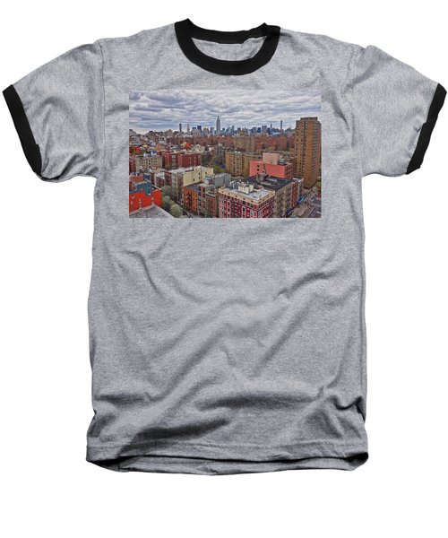 Baseball T-Shirt featuring the photograph Manhattan Landscape by Joan Reese